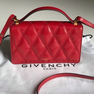 NWT Givenchy Gv3 Mini Nubuck Leather Crossbody Bag